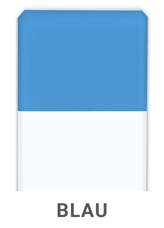 Objektträger Blau