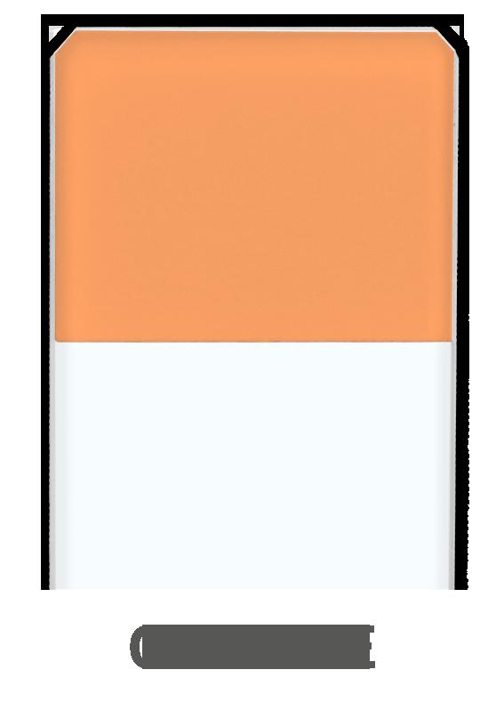 Objektträger Orange
